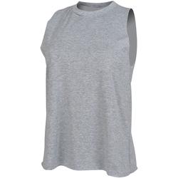 Textiel Dames Mouwloze tops Skinni Fit High Neck Heide Grijs