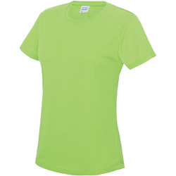 Textiel Dames T-shirts korte mouwen Just Cool JC005 Elektrisch Groen