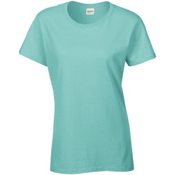 Textiel Dames T-shirts korte mouwen Gildan Missy Fit Mint Groen