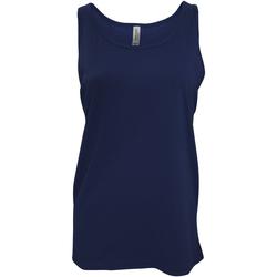 Textiel Dames Mouwloze tops Bella + Canvas Jersey Marineblauw