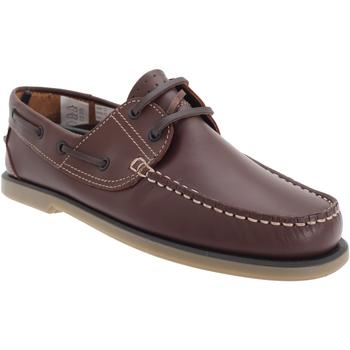 Schoenen Heren Bootschoenen Dek Moccasin Bruin Leder