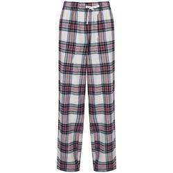 Textiel Dames Losse broeken / Harembroeken Skinni Fit Tartan Wit/roze Controle