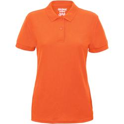 Textiel Dames Polo's korte mouwen Gildan Pique Safety Oranje