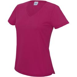 Textiel Dames T-shirts korte mouwen Awdis Girlie Heet Roze