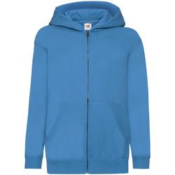 Textiel Kinderen Sweaters / Sweatshirts Fruit Of The Loom Hooded Azure Blauw