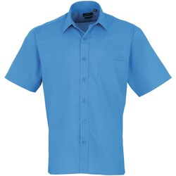 Textiel Heren Overhemden korte mouwen Premier Poplin Saffier
