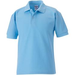 Textiel Jongens Polo's korte mouwen Jerzees Schoolgear 65/35 Hemelsblauw