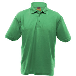 Textiel Heren Polo's korte mouwen Ultimate Clothing Collection Pique Kelly Groen