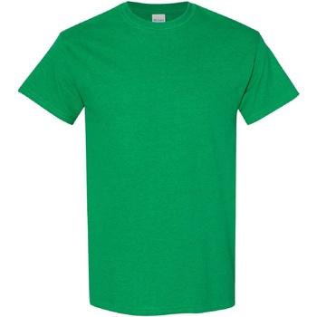 Textiel Heren T-shirts korte mouwen Gildan Heavy Antiek Iers Groen