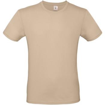 Textiel Heren T-shirts korte mouwen B And C E150 Zand