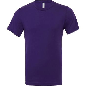Textiel Heren T-shirts korte mouwen Bella + Canvas Jersey Team Paars