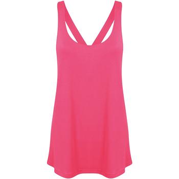 Textiel Dames Tops / Blousjes Skinni Fit Workout Neonroze