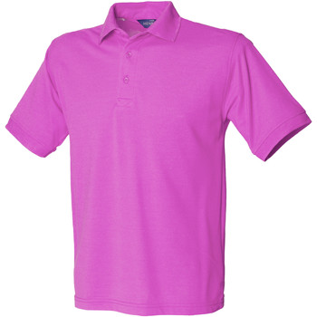 Textiel Heren Polo's korte mouwen Henbury Pique Magenta
