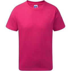 Textiel Jongens T-shirts korte mouwen Jerzees Schoolgear J155B Fuchsia