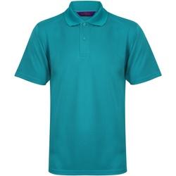Textiel Heren Polo's korte mouwen Henbury Pique Heldere Jade