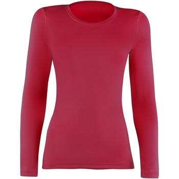 Textiel Dames T-shirts met lange mouwen Rhino  Rood