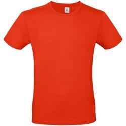 Textiel Heren T-shirts korte mouwen B And C E150 Vuurrood