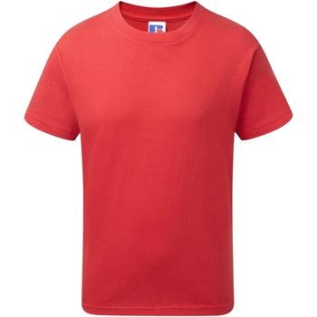 Textiel Jongens T-shirts korte mouwen Jerzees Schoolgear J155B Klassiek rood