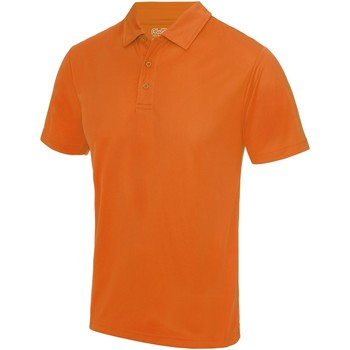 Textiel Heren Polo's korte mouwen Just Cool JC040 Sinaasappelschilfers