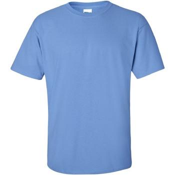 Textiel Heren T-shirts korte mouwen Gildan Ultra Carolina Blauw