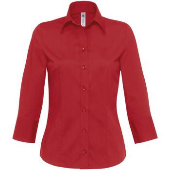 Textiel Dames Overhemden B And C Milano Diep rood