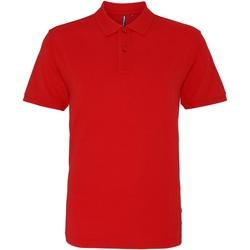 Textiel Heren Polo's korte mouwen Asquith & Fox AQ010 Gewassen Rood