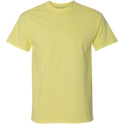 Textiel Heren T-shirts korte mouwen Gildan Ultra Maïsmelk