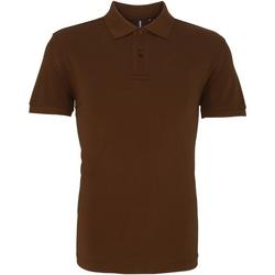 Textiel Heren Polo's korte mouwen Asquith & Fox AQ010 Melkchocolade