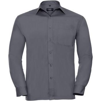 Textiel Heren Overhemden lange mouwen Russell 934M Konvooi Grijs