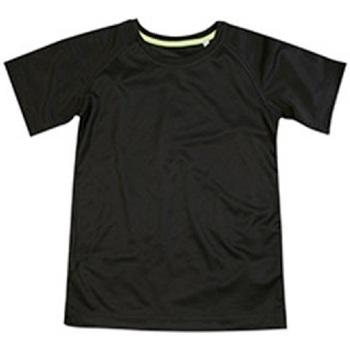 Textiel Kinderen T-shirts korte mouwen Stedman Raglan Zwart Opaal