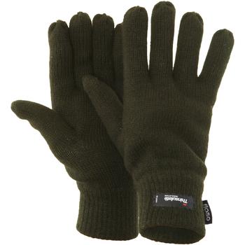 Accessoires Heren Handschoenen Floso Knitted Olijf