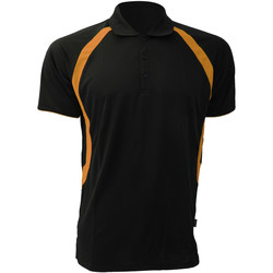 Textiel Heren Polo's korte mouwen Gamegear Riviera Zwart/Oranje