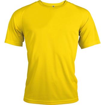 Textiel Heren T-shirts korte mouwen Kariban Proact Proact Echt geel