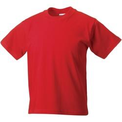 Textiel Kinderen T-shirts korte mouwen Jerzees Schoolgear Classics Helder rood