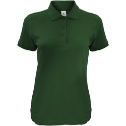 Textiel Dames Polo's korte mouwen B And C Safran Fles groen