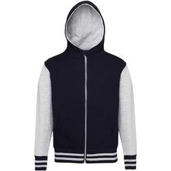 Textiel Kinderen Sweaters / Sweatshirts Awdis Varsity Marine Oxford / Heide Grijs