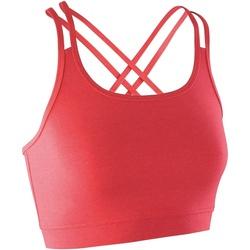 Textiel Dames Sport BHs Spiro Crop Hete koraal