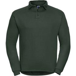 Textiel Heren Polo's lange mouwen Russell Heavy Duty Fles groen