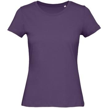Textiel Dames T-shirts korte mouwen B And C Organic Stedelijk Paars