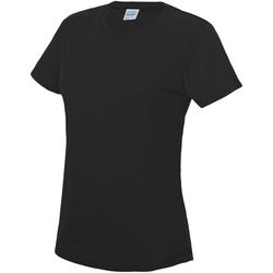 Textiel Dames T-shirts korte mouwen Just Cool JC005 Jet Zwart