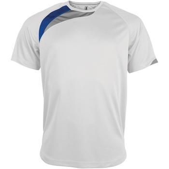 Textiel Heren T-shirts korte mouwen Kariban Proact Proact Wit/Koninklijk/Stormgrijs