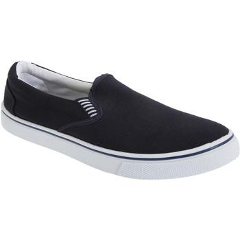 Schoenen Heren Instappers Dek Gusset Marineblauw