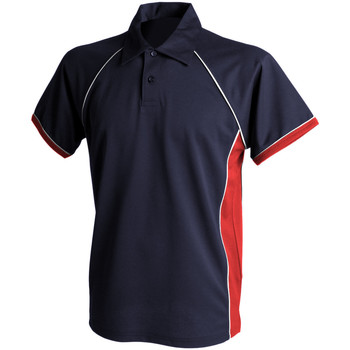 Textiel Heren Polo's korte mouwen Finden & Hales Piped Marine / Rood / Wit