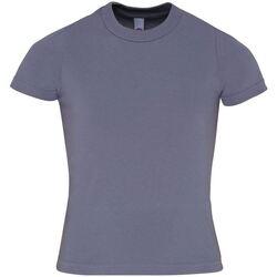 Textiel Kinderen T-shirts korte mouwen American Apparel AA057 Leisteen