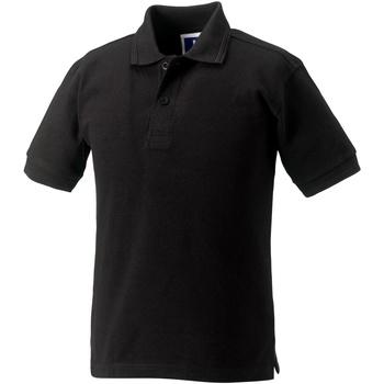 Textiel Meisjes Polo's korte mouwen Jerzees Schoolgear Hardwearing Zwart