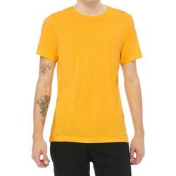 Textiel Heren T-shirts korte mouwen Bella + Canvas Triblend Geel Goud Triblend