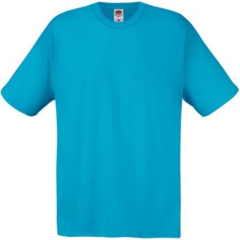 Textiel Heren T-shirts korte mouwen Universal Textiles Casual Cyaan