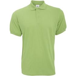 Textiel Heren Polo's korte mouwen B And C Safran Pistache groen
