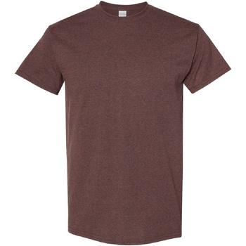 Textiel Heren T-shirts korte mouwen Gildan Heavy Russet
