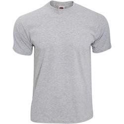 Textiel Heren T-shirts korte mouwen Fruit Of The Loom Original Heather Grijs